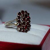 Винтаж handmade. Livemaster - original item Vintage ring Silver 900 Bohemian Garnets (pyropes)1930 gg (0305). Handmade.