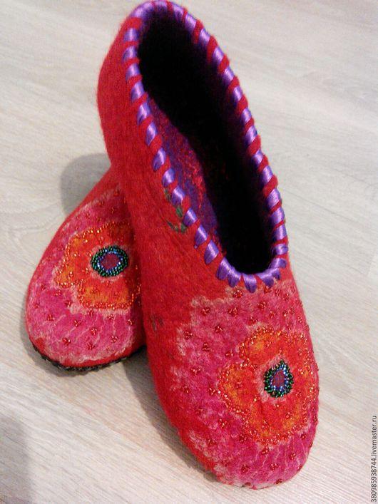 Обувь ручной работы. Ярмарка Мастеров - ручная работа. Купить Тёплые тапочки. Handmade. Тапочки ручной работы, тапочки домашние