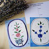 Открытки handmade. Livemaster - original item Postcards with author`s drawing in Russian style. Handmade.