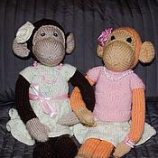 Куклы и игрушки ручной работы. Ярмарка Мастеров - ручная работа Обезьянки Апельсинка и Маринка. Handmade.