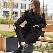 Одежда handmade. Livemaster - original item Coat jacket double breasted trench black. Handmade.