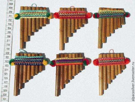 Духовые инструменты ручной работы. Ярмарка Мастеров - ручная работа. Купить Маленькая сампонья из бамбука. Handmade. Бежевый, музыкальный инструмент