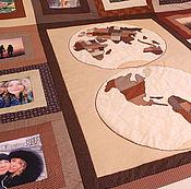 """Для дома и интерьера ручной работы. Ярмарка Мастеров - ручная работа Покрывало с фотографиями """"Путешествие по миру"""" № 459. Handmade."""