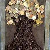 Картины и панно ручной работы. Ярмарка Мастеров - ручная работа денежное дерево-символ богатства подарок на день рождения. Handmade.
