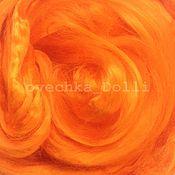 Материалы для творчества handmade. Livemaster - original item Viscose felting, 20 oz., Orange. Handmade.