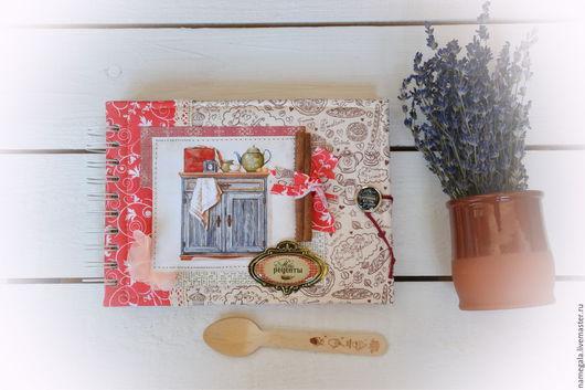 Блокноты ручной работы. Ярмарка Мастеров - ручная работа. Купить Кулинарный блокнот. Handmade. Коралловый, американский хлопок, скрап бумага