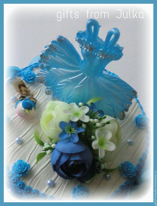 """Букеты ручной работы. Ярмарка Мастеров - ручная работа. Купить Шкатулка для украшений с конфетами """" Маленькая Леди"""". Handmade. Голубой"""