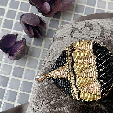 Украшения ручной работы. Ярмарка Мастеров - ручная работа Брошь Золотой воздушный шар. Handmade.