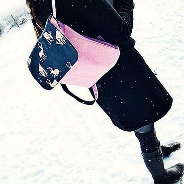 Сумки и аксессуары ручной работы. Ярмарка Мастеров - ручная работа Розовый женский рюкзак с оленями. Handmade.
