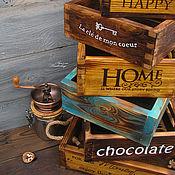 Для дома и интерьера ручной работы. Ярмарка Мастеров - ручная работа Happy Moments - интерьерные ящички. Handmade.