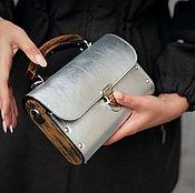 Сумки и аксессуары handmade. Livemaster - original item Silver leather and wood clutch Bright. Handmade.