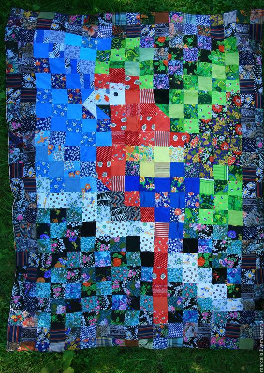 """Текстиль, ковры ручной работы. Ярмарка Мастеров - ручная работа. Купить Покрывало """" Красный Ара"""". Handmade. Комбинированный"""