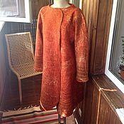 Одежда ручной работы. Ярмарка Мастеров - ручная работа Валяное пальто Terrakotta. Handmade.