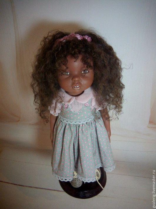 Коллекционные куклы ручной работы. Ярмарка Мастеров - ручная работа. Купить мулаточка Джулька. Handmade. Комбинированный, авторская кукла, подарок
