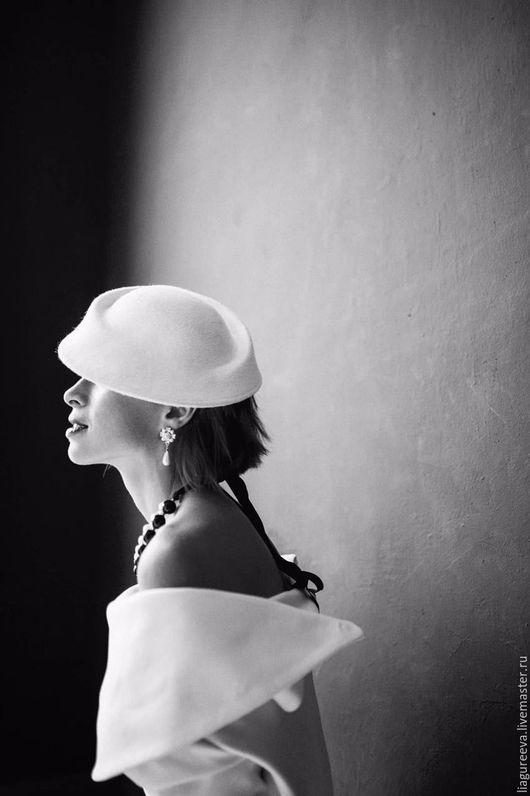 Шляпы ручной работы. Ярмарка Мастеров - ручная работа. Купить Герцогиня. Handmade. Белый, красивая шляпка, модный аксессуар