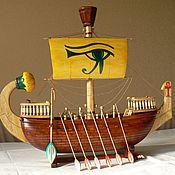 Модели ручной работы. Ярмарка Мастеров - ручная работа Корабль древнего Египта. Handmade.