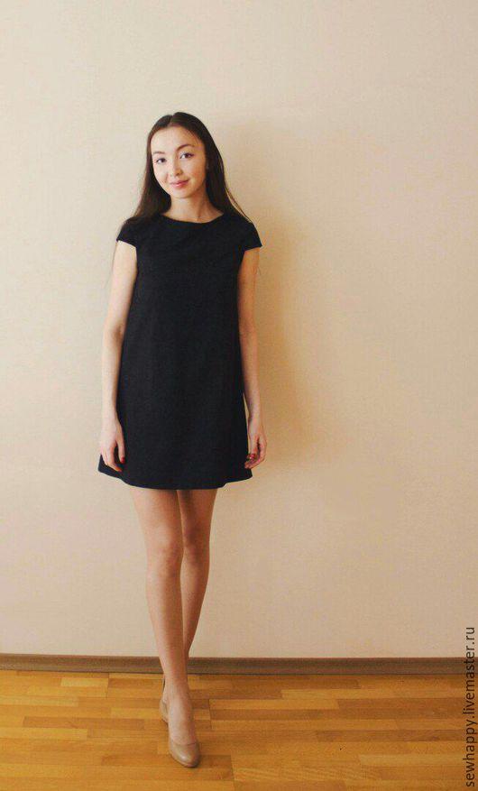 Платья ручной работы. Ярмарка Мастеров - ручная работа. Купить Маленькое черное платье. Handmade. Черный, жаккардовое платье