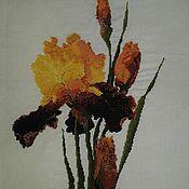 Картины и панно ручной работы. Ярмарка Мастеров - ручная работа Желтые Ирисы. Handmade.