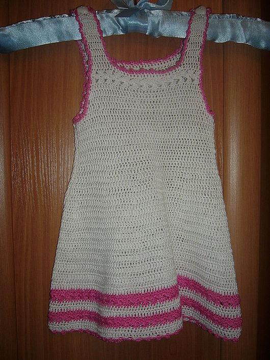 Одежда для девочек, ручной работы. Ярмарка Мастеров - ручная работа. Купить летний сарафан. Handmade. Вязаный сарафан, Вязание крючком