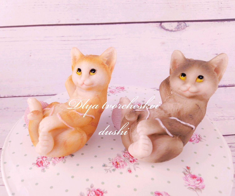 Статуэтки ручной работы. Ярмарка Мастеров - ручная работа. Купить Статуэтка котик с клубком. Handmade. Кот, статуэтка, кошечка, клубок