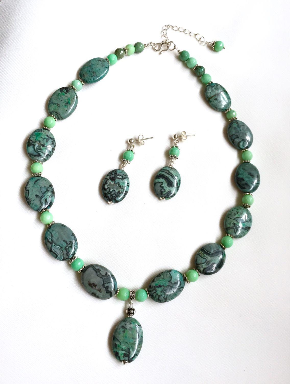 Свадебные украшения из натуральных камней и серебра