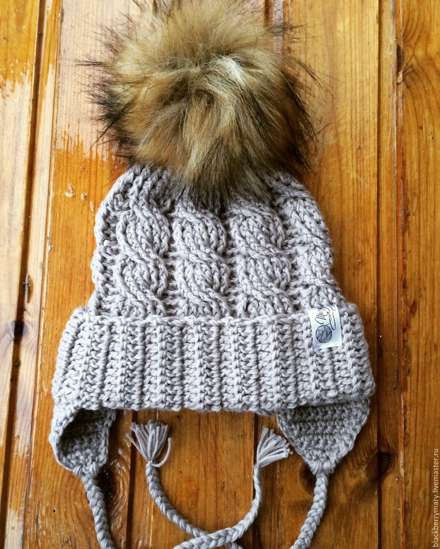 Детская шапка вязание косами