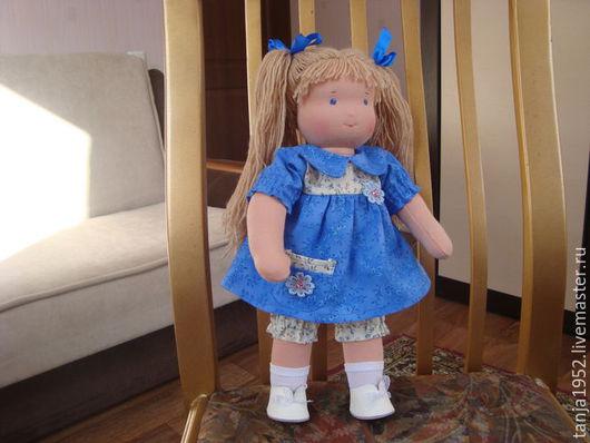 Вальдорфская игрушка ручной работы. Ярмарка Мастеров - ручная работа. Купить Вальдорфская кукла. Handmade. Синий, вальдорфская игрушка