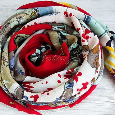 Accessories handmade. Livemaster - original item Shawls: The cashmere shawl from fabric HERMES