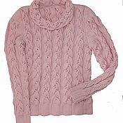 Одежда ручной работы. Ярмарка Мастеров - ручная работа свитер с широкими косами. Handmade.