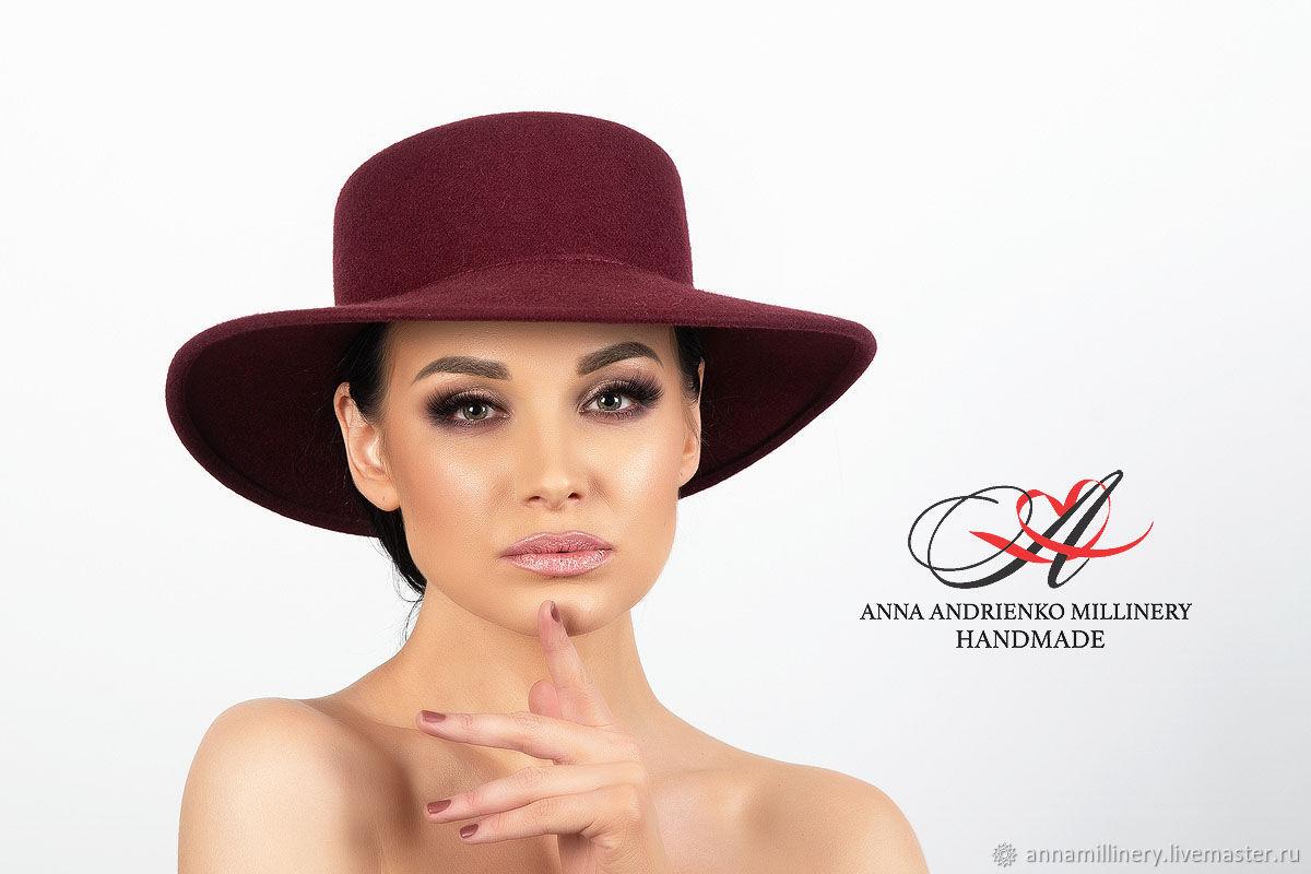 """Женская фетровая шляпа """"Беатрис"""", Шляпы, Санкт-Петербург,  Фото №1"""