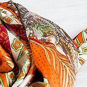 Аксессуары handmade. Livemaster - original item Silk scarf from hermes fabric