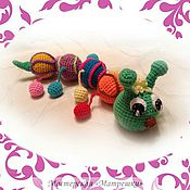 Куклы и игрушки ручной работы. Ярмарка Мастеров - ручная работа Веселая гусеничка. Handmade.