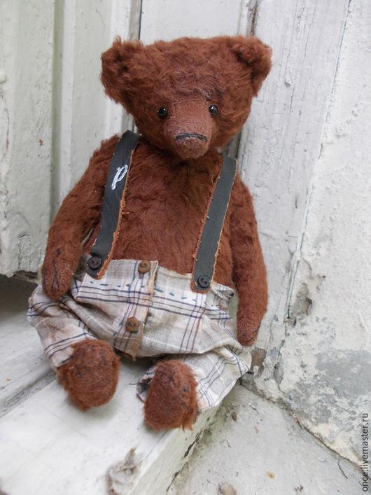 Мишки Тедди ручной работы. Ярмарка Мастеров - ручная работа. Купить Петруша. Handmade. Коричневый, подарок, хлопок