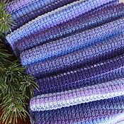 """Шарфы ручной работы. Ярмарка Мастеров - ручная работа Шарф вязаный женский """"Черничный пломбир"""" фиолетовый. Handmade."""