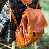 Сумки и аксессуары handmade. Livemaster - original item PHOTO Backpack Redbag. Handmade.