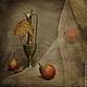 Фотокартины ручной работы. Ярмарка Мастеров - ручная работа. Купить Натюрморт Этюд с грушами. Handmade. Бежевый, пастельные тона, лист