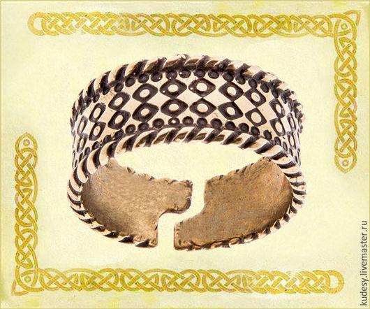 """Серьги ручной работы. Ярмарка Мастеров - ручная работа. Купить Перстень литой """"Русь"""". Handmade. Золотой, серьги, подарок"""