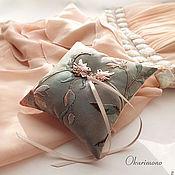 Свадебный салон ручной работы. Ярмарка Мастеров - ручная работа Злата.Комплект подушечка+подвязка. Handmade.