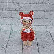 Куклы и игрушки handmade. Livemaster - original item Knitted doll crochet. Doll amigurumi crochet, costume chanterelles.. Handmade.