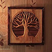 """Картины и панно ручной работы. Ярмарка Мастеров - ручная работа Панно """"Старый дуб"""". Handmade."""