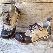 Обувь ручной работы. Ярмарка Мастеров - ручная работа Ботинки из нубука VV paisley 2. Handmade.