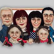 Куклы и игрушки ручной работы. Ярмарка Мастеров - ручная работа Портрет семейный.. Handmade.