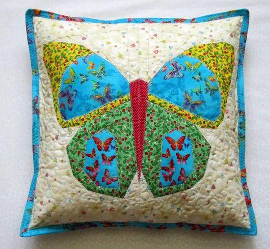 """Детская ручной работы. Ярмарка Мастеров - ручная работа. Купить Чехол на подушку """"Бабочка"""". Handmade. Пастельный, детская, подушка для девочки"""