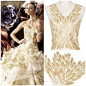 Материалы для творчества handmade. Livemaster - original item Gold embroidery for dress. Handmade.