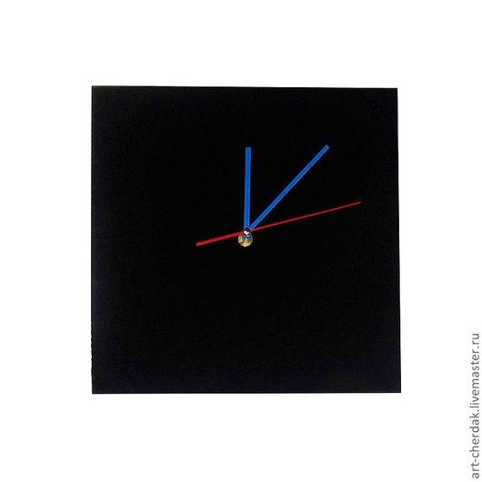 """Часы для дома ручной работы. Ярмарка Мастеров - ручная работа. Купить Часы настенные """"Почти Малевич"""". Handmade. Черный"""