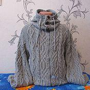 Одежда ручной работы. Ярмарка Мастеров - ручная работа Джемпер на застежке разъёмная молния со снудом. Handmade.