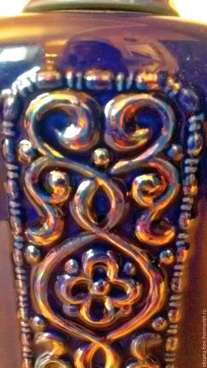 Винтажные предметы интерьера. Ярмарка Мастеров - ручная работа. Купить Водочный фарфоровый штоф. Handmade. Тёмно-синий, винтажный штоф