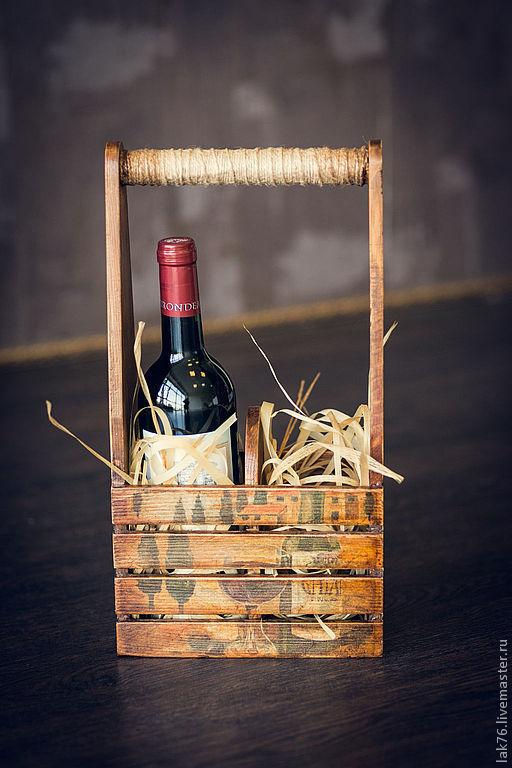 """Корзины, коробы ручной работы. Ярмарка Мастеров - ручная работа. Купить Короб  для вина """"Италия""""  Продано. Handmade. Короб для вина"""