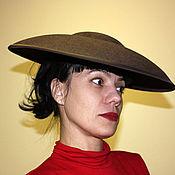 Аксессуары handmade. Livemaster - original item Hat in the style of Dior`s 50`s brown. Handmade.
