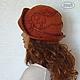 """Шляпы ручной работы. Валяная шляпка """"Осенний багрянец"""" войлок, кожа.. Ирина (iresh). Ярмарка Мастеров. Шляпка валяная"""